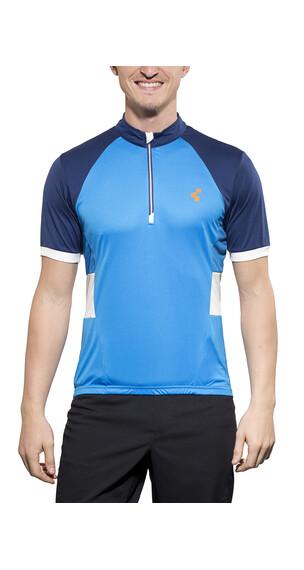 Cube Tour Challenge Koszulka kolarska Mężczyźni niebieski